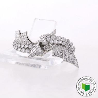 Diamant Doppelclip antik