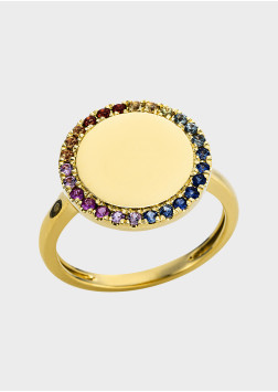 Box Selection Rainbow Saphir Damenring